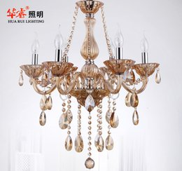 Wholesale ornament project elegant chandeliers hanging light holder crystal candle lamp luxury chinese pendant lanterns fashion indoor light