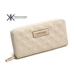 Monederos de las señoras de descuento en Línea-Descuento KK MUJERES WALLET LONG Design famosas mujeres de la marca de fábrica bolsos de la carpeta PU cuero Kardashian Kollection monedero de las señoras embrague monedero