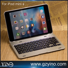 Wholesale Ultra thin Air Bluetooth Wireless Keyboard Aluminum Case For Apple iPad mini4 quot Folding With Keyboard F1