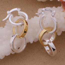 Wholesale Fashion Jewelry Manufacturer a Separation circle earrings sterling silver jewelry factory Fashion Shine Earrings