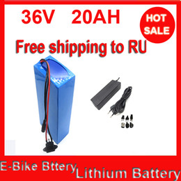 free TNT shipping 1pcs lot 36v 20ah 1000W Li-ion Electric Bicycle Battery with PVC Case ,charger