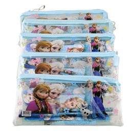 Wholesale Stationery Gifts For Children - Kids learning items Frozen stationery set for Students children stationery Frozen Pencil Cases Frozen Bags Frozen Ruler Frozen (1708001)