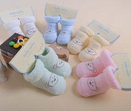 Wholesale pairs new born Baby Boots Cotton socks lovely Bear Design Autumn Winter soft socks