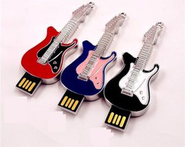 2015 Rock and roll electric guitar shape 64GB 128GB 256GB USB Flash Drive music pen drive metal pendrives memory stick DHL ship