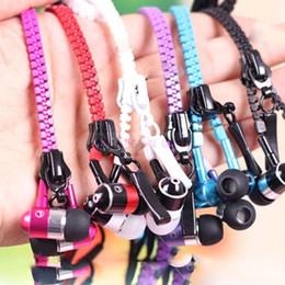 500pcs lot Zipper Headphones In Ear Headphone Headset 3.5mm In-Ear Zip Earphone for Andrid smart phone mp3 mp4 player DHL Free shipping