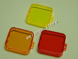 Color lens filter cap cover 3 pcs  set for GoPro Hero 3+ 3 plus cameras Red Yellow Orange
