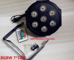 Wholesale 30M Wireless remote control LED Par x12W RGBW IN1 LED Wash Light Stage Uplighting No Noise Remote control