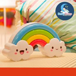 100% new Rainbow LED Night Light Lamp for Baby Kids Children Lamp Sleep Light Illumination by Sound Sensor Sleep Soother Comforter