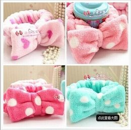 Wholesale South Korean style New bathroom shower washing face facial hair band bowknot hair accessories head hoop for women and girls YY305
