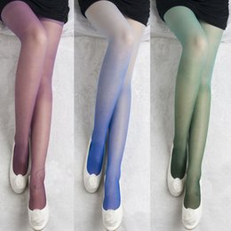 Women Tights Velvet Material Sexy Stockings Summer Style Thin Colorful Gradient Pantys Medias