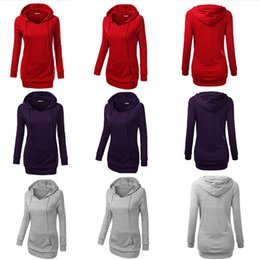Wholesale New Fashion Womens Casual Hooded Sweatshirt Pullover Hoodies Coat Outerwear Tops Clothings