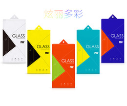 Wholesale Retail Box Package Screen Protector Tempered Glass armored glass Paper with inner for iphone plugs Samsung Note s4 s5 DHL