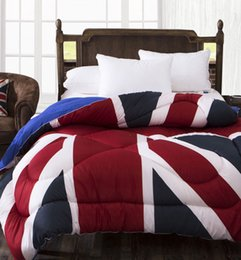 Wholesale Winter comforter quilting duvet quilts blanket for Four seasons bedspreads British flag USA American flag amp
