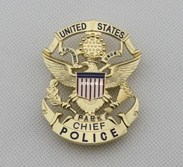 Wholesale United States Park badge PARK badge CHIEF Badges High Quality Collection Metal Badge Retail DHL Free