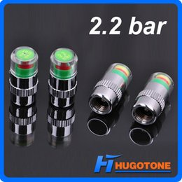 Wholesale 4PCS Set Car Auto Pressure Monitor Valve Stem Caps Tire Valve Stem Cap Bar Bar Sensor Indicator