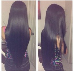 Wholesale Affordable Full Head Lace Front Wigs Light Yaki Straight inch Natural Color Indian Remy Human Hair Price