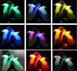 200pcs=100Pairs LED Flashing Shoelace Light up Shoe Laces Laser Shoelaces Fashionable Jump Change Shoe lamp laces Fedex