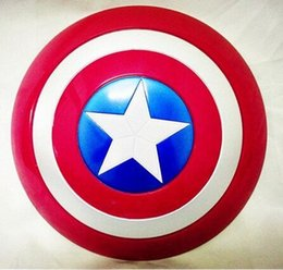 Wholesale The Avengers Captain CM America Shield Light Emitting Sound Cosplay property Toy Metallic shield Red Blue