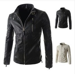 2015 New Men Leather Coats Slim fit Lapel Neck Casual Cardigan jacket Motorcycle Outerwear long sleeve coat men's clothing 2889