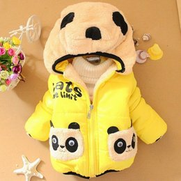 Children Clothing panda Cartoon Outwear Child Boys Girls Winter Wear Thickening Outerwear Coat Kids cotton-padded jacket