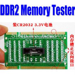 2017 las luces de carga Nueva memoria portátil del envío libre DDR2 probador de diagnóstico herramienta con el maniquí de carga portátil para el diagnóstico de fallas motherboard luz $ 18Nadie pista las luces de carga en oferta