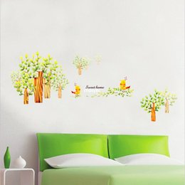 Wholesale wall stickers home decor Stylish bedroom living room TV wall stickers decorative stickers stickers green jungle Jiukeshu LM861
