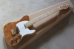 Wholesale New arrival F custom shop Richie Kotzen TL electric guitar antique natural TL guitarra Golden hardware