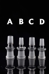 2016 Standard glass adapter Manufacturer mix size 4 types bong converter male to male joint for glass water pipe bong oil rig