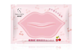 Wholesale Pieces Lips Care Cherry Ingredient Lip Mask Pads Moisture Essence Anti Ageing Wrinkle Patch Pad Gel Lip whithout box