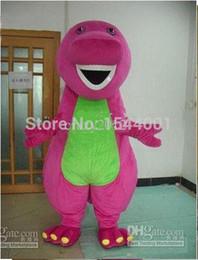 2015 new High quality Purple dinosaur Profession Barney Dinosaur Mascot Costumes Halloween Cartoon Adult Size Fancy Dress