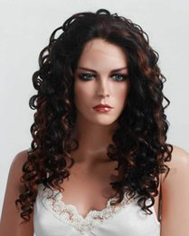 Wholesale Mixed Color Beautiful Curl Lace Front Kanekalon Wigs