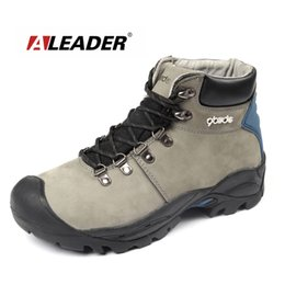 Wholesale-Waterproof Men's Hiking Boots Winter Warm Genuine Leather Ankle Hiking Shoes Boots with Fur Outdoor Shoes Sapatos zapatos hombre