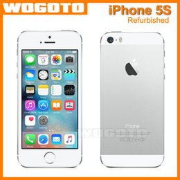 Wholesale Refurbished Original Factory Apple Iphone S Unlocked phone GB GB ROM IOS White Black GPS Gold GPRS A7 IPS LTE year warranty