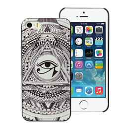 Wholesale Triangle Eye Design Black Skin Hard Plastic Mobile Phone Case Cover For iPhone 4 4S 5 5S 5C