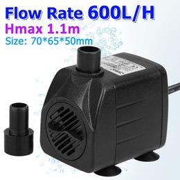 Wholesale 600L H GPH Aquarium Submersible Water Pump EU with Adjustable Flow Rate for Fresh and Sea Water Aquarium