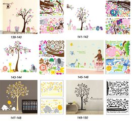Wholesale Mix Order Removable Wall Art Stickers Nursery Wall Decor x90cm Kids Room Wall Decals Large Wallpaper Stickers