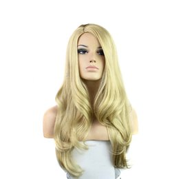Cheap Long Synthetic Wigs heat resistant fiber sexy wigs hair for women wavy style brown wig