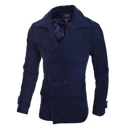 Wholesale Fall Male trench outerwear winter w for ar m jacket mens trench coat win for db re aker for s