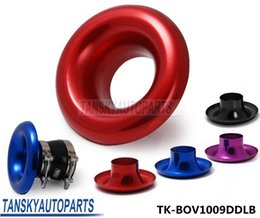 Wholesale TANSKY quot Full Aluminum Cold Air Shor Ram Intake Velocity Flow Stack Turbo Horn Kit TK BOV1009DDLB