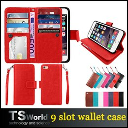 Wholesale For iphone plus Wallet Case PU leather cases photo frame slot credit card pocket handbag for iphone s plus samsung s7 edge note