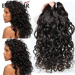 Promotion vague d'eau armure bouclée Nouvelle arrivée Fashion Trends 6A Cheap Peruvian Virgin Hair 3 Bundle Deals Water Wave italienne Bouclés Cheveux longs bouclés Weave