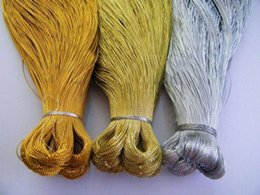 Wholesale-Free shipping DIY bag candy metallic yarn   Gold and silver thread 90m lot