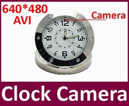 Mini-libre caméra cachée en Ligne-25pcs / lot DHL Mini DVR gratuit Horloge Montre enregistrement de détection de mouvement caméra cachée caméscope sécurité à la maison caméra horloge de table