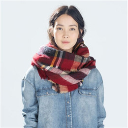 2015 autumn and winter with new female big warm colorful plaid scarves large shawl scarf plaid scarves Z home