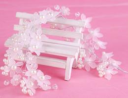 Romantic Bridal Headbands Acrylic Pearls Wedding Headband For Bride Crystal Hair Jewelry Handmade Bridal Hair Accessories