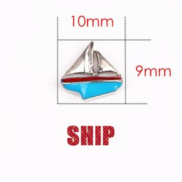 Wholesale 30pcs DIY ship on the sea floating charms for glass living memory lockets