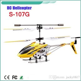Wholesale 2015 cardboard box Syma S107g Channel Mini Indoor Co Axial Metal RC Helicopter w Built in Gyroscope