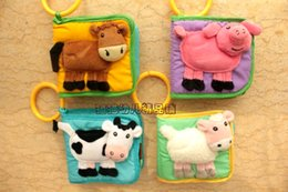Wholesale Infant animal puzzle three dimensional cognitive cloth book bell bed hanging toy small cloth book