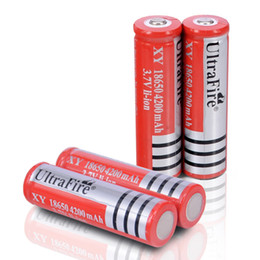 NEW For LED Flashlight UltraFire 2*18650 3.7V Rechargeable Li-ion Battery 4200mAh Torch Light Red Rechargeable Battery