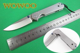 Wholesale 2 Types Chris Reeve CR Small Sebenza CR15 Stonwashed Blasting Blade Rediate Flat Steel handle Folding Pocket Knife Camping Gift Knives